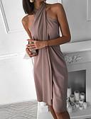 ราคาถูก จั๊มสูทและเสื้อคลุมสำหรับผู้หญิง-สำหรับผู้หญิง พื้นฐาน รูปตัว เอ แต่งตัว สีพื้น ไม่สมดุล