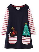 Χαμηλού Κόστους Φούτερ και φούτερ με κουκούλα για κορίτσια-Παιδιά Κοριτσίστικα Κινούμενα σχέδια Χριστούγεννα Πάνω από το Γόνατο Φόρεμα Βαθυγάλαζο