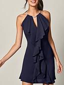 billige Uformelle kjoler-Dame Elegant Skjede Kjole - Ensfarget Ovenfor knéet