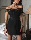 povoljno Nježna čipka-Žene Osnovni A kroj Haljina - Kolaž, Jednobojni Iznad koljena