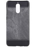 baratos Capinhas para Huawei-Capinha Para Huawei Honor 8 / Mate 9 Ultra-Fina Capa traseira Sólido PU Leather / PC