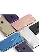 baratos Cases & Capas-Capinha Para Samsung Galaxy A3 (2017) / A5 (2017) / A7 (2017) Com Suporte / Espelho Capa Proteção Completa Sólido PU Leather / PC