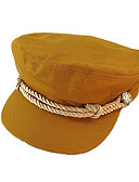 Χαμηλού Κόστους Women's Hats-Γυναικεία Συνδυασμός Χρωμάτων Ενεργό Βασικό χαριτωμένο στυλ Βαμβάκι Μπερές Όλες οι εποχές Μαύρο Λευκό Κίτρινο