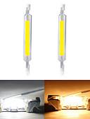 billiga Exotiska herrunderkläder-2pcs 10 W Rörglödlampa 1000 lm R7S T 1 LED-pärlor COB Ny Design Varmvit Vit 220-240 V 110-120 V