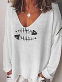 povoljno Majica s rukavima-Majica s rukavima Žene Dnevno Životinja Obala