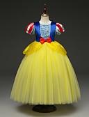 Χαμηλού Κόστους Αξεσουάρ για τα μαλλιά των γυναικών-Παιδιά Νήπιο Κοριτσίστικα Ενεργό Κομψό στυλ street Patchwork Halloween Patchwork Κοντομάνικο Μίντι Φόρεμα Κίτρινο