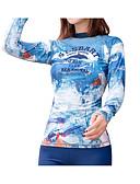 baratos Protetores de Tela para iPhone-SBART Mulheres Anti Atrito Camisa de Natação Respirável Secagem Rápida Manga Longa Natação Surfe Snorkeling Retalhos Outono Primavera Verão / Micro-Elástica