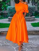baratos Vestidos de Coquetel-Linha A Assimétrico Assimétrico Poliéster Elegante Coquetel Vestido 2020 com Pregas