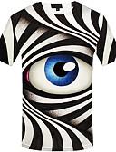 Χαμηλού Κόστους Ανδρικά μπλουζάκια και φανελάκια-Ανδρικά T-shirt Βίντατζ Πορτραίτο Στάμπα Ασπρόμαυρο Μαύρο