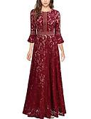 זול שמלות מקסי-מקסי אחיד - שמלה גזרת A בגדי ריקוד נשים