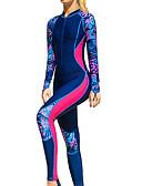 ราคาถูก ชุดดำน้ำ-SBART สำหรับผู้หญิง ดำน้ำที่เหมาะกับสภาพผิว ชุดดำน้ำ SPF30 การป้องกันรังสียูวี ระบายอากาศ Full Body ซิปรูดด้านหน้า - การว่ายน้ำ Surfing Snorkeling ลายต่อ Spring, Fall, Winter, Summer / ยืด / แห้งเร็ว