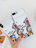 baratos Capinhas para iPhone-Capinha Para Apple iPhone XS / iPhone XR / iPhone XS Max Espelho / Ultra-Fina / Estampada Capa traseira Palavra / Frase / Animal / Desenho Animado TPU