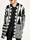 povoljno Muški džemperi i kardigani-Muškarci Geometrijski oblici Dugih rukava Kardigan, Okrugli izrez Crn US32 / UK32 / EU40 / US34 / UK34 / EU42 / US36 / UK36 / EU44