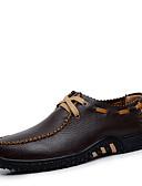 Χαμηλού Κόστους Δέρμα-Ανδρικά Οδήγηση παπούτσια Φο Δέρμα Ανοιξη καλοκαίρι / Φθινόπωρο & Χειμώνας Καθημερινό / Κινεζικό στυλ Oxfords Ποδηλασία / Περπάτημα Μη ολίσθηση Μαύρο / Καφέ / Κίτρινο