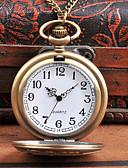 ราคาถูก นาฬิกาพก-สำหรับผู้ชาย นาฬิกาแบบพกพา นาฬิกาอิเล็กทรอนิกส์ (Quartz) สไตล์วินเทจ Creative ดีไซน์มาใหม่ เท่ห์ อะนาล็อก-ดิจิตอล วินเทจ - บรอนซ์