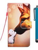 billige iPhone-etuier-etui til apple iphone xr / iphone xs maks lommebok / kortholder / med stativ kroppsvesker hound kyss pu skinn til iphone 6s / 6s pluss / 7/7 pluss / 8/8 pluss / x / xs