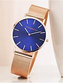 ราคาถูก นาฬิกาข้อมือสแตนเลส-สำหรับผู้ชาย นาฬิกาตกแต่งข้อมือ นาฬิกาอิเล็กทรอนิกส์ (Quartz) สแตนเลส ดำ / ทอง / Rose Gold นาฬิกาใส่ลำลอง ระบบอนาล็อก แฟชั่น ที่เรียบง่าย ดูง่าย - สีดำ สีทอง Rose Gold หนึ่งปี อายุการใช้งานแบตเตอรี่