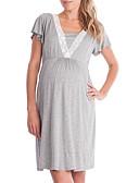 povoljno Majice-Žene Swing kroj Haljina Jednobojni Iznad koljena