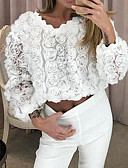 cheap Women's Blouses-Women's Daily Blouse - Solid Colored White