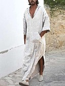billige Jumpsuits og buksedresser til herrer-tunika Herre - Ensfarget Hvit