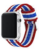 olcso Smartwatch sávok-divatos heveder szalag az Apple Watch sorozathoz 4 3 2 1 nejlon heveder az iwatch klasszikus stílusához színes mintázat adapterrel 44mm / 40mm / 38mm / 42mm