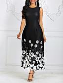 Χαμηλού Κόστους Μακριά Φορέματα-Γυναικεία Θήκη Φόρεμα - Φλοράλ, Στάμπα Μακρύ