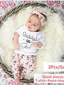 povoljno Kompletići za bebe-Dijete Djevojčice Ležerne prilike / Aktivan Jednobojni / Print Print Kratkih rukava Regularna Komplet odjeće Obala