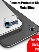 baratos Caso Smartwatch-Para iphone 7 vidro para iphone 8 plus 6 s 6 9 h dureza camera protetor de vidro temperado + metal traseiro lens camera protetor anel