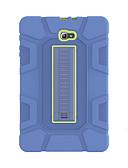 billige Samsung Case-Etui Til Samsung Galaxy Samsung Tab A 10.1 (2019) T510 / Samsung Tab A 10.1 (2019) T515 / Galaxy Tab A 9.7 T550 T555 Støtsikker / med stativ Bakdeksel Ensfarget PC / silica Gel
