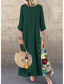 baratos Vestidos Longos-Mulheres Evasê Vestido Floral Longo