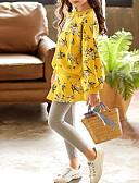 זול סטים של ביגוד לבנות-סט של בגדים שרוול ארוך פרחוני חִנָנִית בנות ילדים / פעוטות