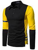 Χαμηλού Κόστους Αντρικές Μπλούζες με Κουκούλα & Φούτερ-Ανδρικά Polo Βασικό Συνδυασμός Χρωμάτων Patchwork Μπλε & Άσπρο Μαύρο