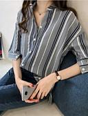 billige Bluser-Skjorte Dame - Fargeblokk Hvit