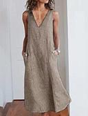 baratos Vestidos-Mulheres Básico Reto Vestido Sólido Longo