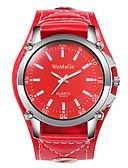 ราคาถูก นาฬิกาสำหรับผู้ชาย-สำหรับผู้ชาย นาฬิกาตกแต่งข้อมือ นาฬิกาอิเล็กทรอนิกส์ (Quartz) หนัง ดำ / สีขาว / แดง นาฬิกาใส่ลำลอง ปุ่มหมุนขนาดใหญ่ ระบบอนาล็อก แฟชั่น - สีดำ สีน้ำตาล แดง หนึ่งปี อายุการใช้งานแบตเตอรี่
