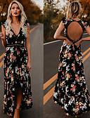 Χαμηλού Κόστους Μακριά Φορέματα-Γυναικεία Swing Φόρεμα - Φλοράλ Μακρύ