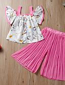 זול סטים של ביגוד לתינוקות-סט של בגדים ללא שרוולים אחיד / דפוס חִנָנִית בנות תִינוֹק