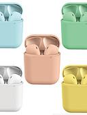billige iPad-etui-litbest lx-lpc ny macaron i12 inpods tws ekte trådløs hei sirius ørepropper flere fargealternativer bluetooth 5.0 hodetelefoner dukker opp for ios med mikrofon håndfri berøringsstyring øretelefon