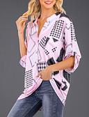 baratos Camisetas Femininas-Mulheres Blusa Frufru, Sólido Delgado Branco / Primavera / Verão / Outono / Inverno