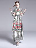 ราคาถูก นาฬิกาข้อมือหรูหรา-สำหรับผู้หญิง โบโฮ รูปตัว เอ แต่งตัว - ลายพิมพ์, ลายดอกไม้ ขนาดใหญ่ White