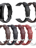 billige Leather Watch Band-ekte lær utskiftning armbåndsur for spenne i armbånd for huawei talkband b3