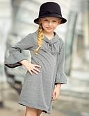 Χαμηλού Κόστους Φούτερ και φούτερ με κουκούλα για κορίτσια-Παιδιά Κοριτσίστικα Τετράγωνο Καρό Πάνω από το Γόνατο Φόρεμα Μαύρο