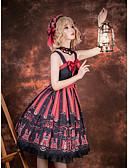povoljno Lolita moda-Umjetnička / Retro Punk moda Guro Lolita Haljine Ženska Japanski Cosplay Kostimi Rose Other Životinja Bez rukava Bez rukávů Do koljena