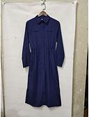 ราคาถูก ชุดเสื้อผ้าเด็กผู้ชาย-สำหรับผู้หญิง พื้นฐาน ฝ้าย เชิร์ต แต่งตัว สีพื้น ขนาดใหญ่ คอเสื้อเชิ้ต