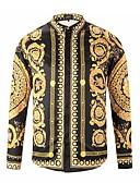 ราคาถูก กางเกงผู้ชาย-สำหรับผู้ชาย เชิร์ต รูปเรขาคณิต สีทอง