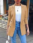 Χαμηλού Κόστους Blazers-Γυναικεία Μπλέιζερ Πέτο με Μύτες Πολυεστέρας Μαύρο / Κίτρινο / Θαλασσί