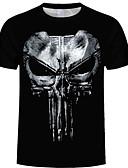 povoljno Kratke hlače-Majica s rukavima Muškarci - Ulični šik Dnevno 3D / Životinja Print Crn