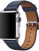 billige Smartwatch Bands-Klokkerem til Apple Watch Series 5/4/3/2/1 Apple Klassisk spenne Ekte lær Håndleddsrem