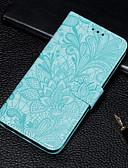 baratos Capinhas para Huawei-Capinha Para Huawei Huawei Honor 10 / Honra V20 / Huawei Honor 9 Lite Carteira / Porta-Cartão / Com Suporte Capa Proteção Completa Flor PU Leather