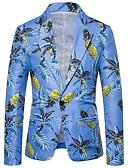 ราคาถูก สไตลตุ๊กตาเบบี้-สำหรับผู้ชาย เสื้อคลุมสุภาพ, รูปเรขาคณิต คอวี เส้นใยสังเคราะห์ สายรุ้ง